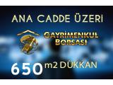 ŞEHİR MERKEZİNDE KURUMSAL KİRACILI 650 m2 KIYMETLİ DÜKKAN